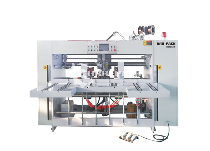 HRB-2000 Semi-Auto Stitcher Machine Double Piece Double Head