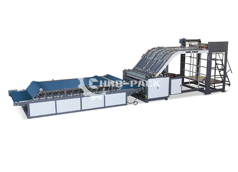 HRB-HII Semi Automatic Flute Laminator Machine Lift Model