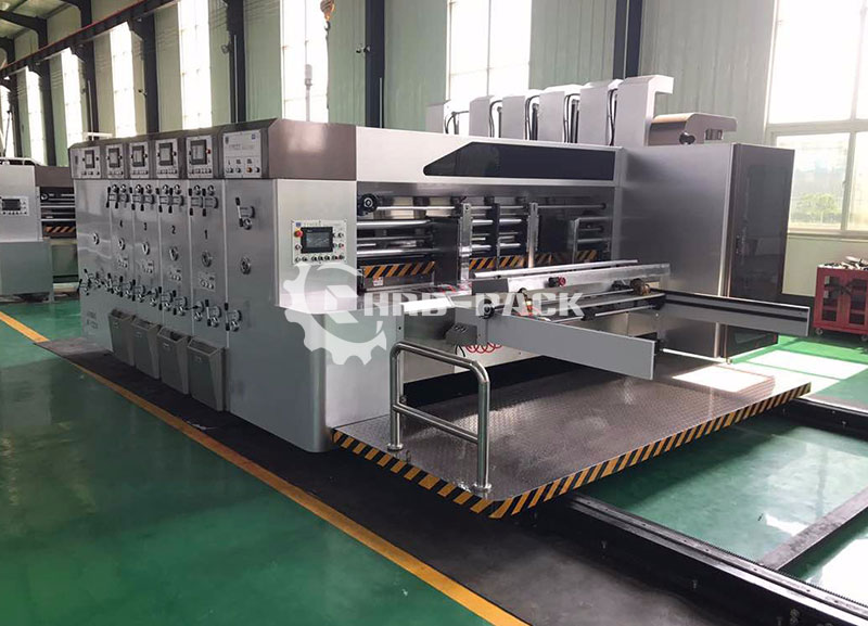 Fully Automatic Lead Edge Feeder Flexo Printing Slotting Die Cutting Machine with Stacker