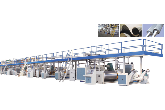 Automatic 5/7 ply corrugated line